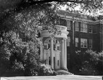 Kinard Hall Portico August 1956 by Winthrop University and Clarence H. and Anna e. Lutz Foundation
