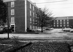 Backside of Lee Wicker Hall ca1964 by Winthrop University and Clarence H. and Anna E. Lutz Foundation