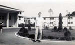 Friend of S. Stringfellow outside of dorms at Arlington Hall by Sara J. Stringfellow