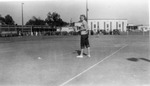 Sara Stringfellow on the Tennis Courts at Arlington Farms by Sara J. Stringfellow