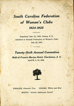 South Carolina Federation of Women's Club Yearbook - Accession 92 - M41 (54)