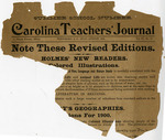 Carolina Teachers' Journal - Accession 84 - M35 (47)