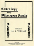 Witherspoon Family History - Accession 715 #114 by Family History - Witherspoon Family