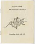Marlboro CountyExtension Homemakers' Council Records - Accession 321