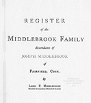 Middlebrook Family Register - Accession 357 - M142 (178-179)