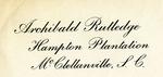 Archibald Rutledge Letters - Accession 361 - M146 (185)