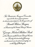Reagan Presidential Inauguration Invitation - Accession 383 - M157 (198)