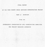 York County Human Services Demonstration Project Report - Accession 588 - M252 (301)