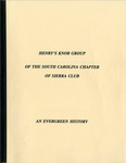 Sierra Club- Henry's Knob Chapter History - Accession 816
