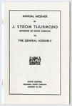 Strom Thurmond Annual Message to the General Assembly, 1951 - Accession 1032 - M459 (510)