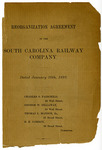 Reorganization Agreement Of The South Carolina Railway Company - Accession 1262 - M614 (667)