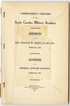 Commencement Exercises Of The South Carolina Military Academy- Accession 1300 - M644 (698)