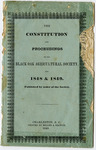 Black Oak Agricultural Society: The Constitution and Proceedings of Black Oak Agricultural Society for 1848 and 1849 - Accession 1317 - M654 (708)