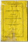 Essays on Domestic Industry: or, an Enquiry into the Expediency of Establishing Cotton Manufactures in South Carolina - Accession 1322 - M659 (713)