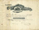 Laurens City Schools High School Diploma - Accession 1356 - M677 (732)