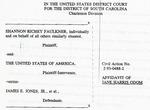 The Citadel/Shannon Faulkner Affidavit - Accession 850 by Citadel/Shannon Faulkner Affidavit