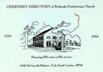 Bethesda Presbyterian Church Cemetery Directory - Accession 885 - M400 (451)