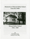 Mount Holly School Reminiscence - Accession 1514 - M738 (795)