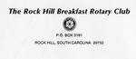 Breakfast Rotary Club of Rock Hill Records - Accession 1496