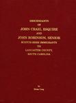 Descendants of John Craig, Esquire and John Robinson, Senior - Accession 715 #32
