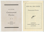 Rock Hill High School Commencement Bulletins - Accession 1149 - M525 (576)