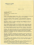 President Gerald R. Ford Letter - Accession 1476 - M717 (773)