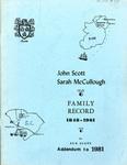 Scott Family Record - Accession 715 #45 by Family History - Scott Family and Sue Scott