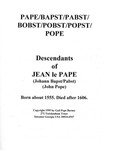 Pape / Bapst / Pabst / Bobst / Pobst / Popst / Pope Family - Accession 715 #50 by Family History - Pape Family and Gail Pope Barnes