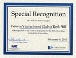 Women's Investment Club of Rock Hill Records - Accession 1546 by Women's Investment Club of Rock Hill; Investment Club; and Rock Hill, SC, Club