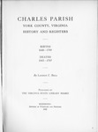 Charles Parish, York County, Virginia: History and Registers - Accession 715 #55