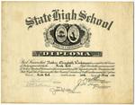 Nettie Workman Weaver Diplomas - Accession 1639 - M7803 (860)