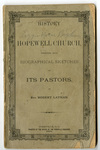 History of Hopewell ARP Church - Accession 1693 - M825 (882)
