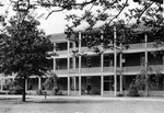 Back of Margaret Nance Gall through pergola ca. 1920s by Winthrop University and Clarence H. and Anna E. Lutz Foundation