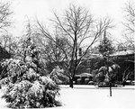 Margaret Nance Hall in snow December 24, 1947 by Winthrop University and Clarence H. and Anna E. Lutz Foundation