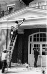 Margaret Nance Hall, workers painting exterior, April 1992