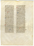 Commentary on the Sentences of Peter Lombard, Book I- Med MS 8A by Thomas Aquinas