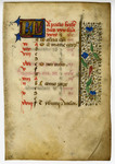 Book of Hours, Calendar Leaf for April- Med MS 12A by Unknown