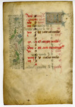 Book of Hours, Calendar Leaf for April- Med MS 12B