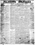 The Palmetto Standard- September 22, 1852 by C Davis Melton