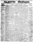 The Palmetto Standard- October 6, 1852 by C Davis Melton