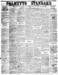 The Palmetto Standard- October 13, 1852 by C Davis Melton