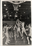 Students Playing Basketball in Peabody Gymnasium 1954 by Winthrop University