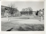Students on Tennis Courts Next to Peabody Gymnasium 1966 by Winthrop University