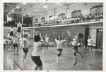 Physical Education Honor Students Playing Volleyball in Peabody Gymnasium 1968 by Winthrop University