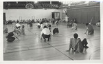 Physical Education Class in Peabody Gymnasium 1974 by Winthrop University