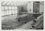 Students Swimming in Peabody Gymnasium Pool 1975 by Winthrop University