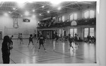 Students Playing Volleyball in Peabody Gymnasium 1976 by Winthrop University