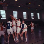 Students Playing Basketball in Peabody, late 1960s by Winthrop University