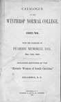 1892 - First Winthrop College Catalog Published by Winthrop University