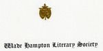 1909 - Wade Hampton Literary Society is Organized
